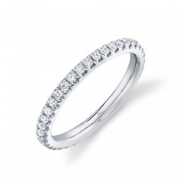 0.58ct 14k White Gold Diamond Eternity Band Size 7