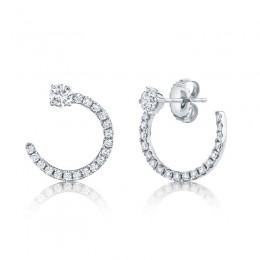 0.93ct 14k White Gold Diamond Earring
