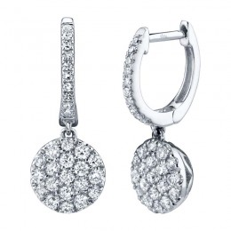 0.50ct 14k White Gold Diamond Pave Earring