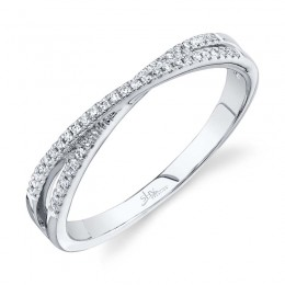 0.09ct 14k White Gold Diamond Lady
