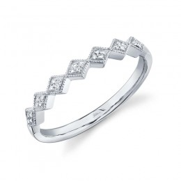 0.05ct 14k White Gold Diamond Lady