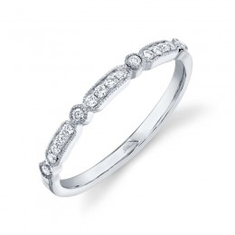 0.16ct 14k White Gold Diamond Lady