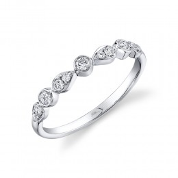 0.24ct 14k White Gold Diamond Lady