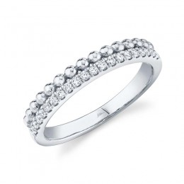 0.18ct 14k White Gold Diamond Lady