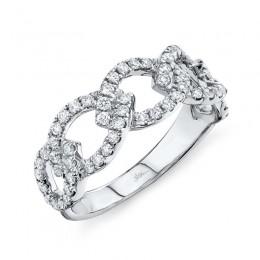 0.61ct 14k White Gold Diamond Link Ring