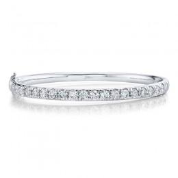 3.95ct 14k White Gold Diamond Bangle