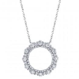 1.16Ct Diamond Circle Necklace