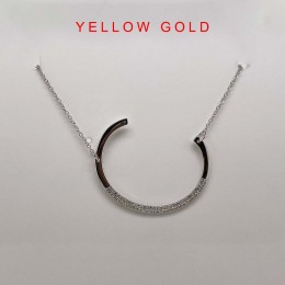 "0.13Ct Diamond Pave ""C"" Initial Necklace"