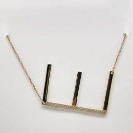 "0.13Ct Diamond Pave ""E"" Necklace"