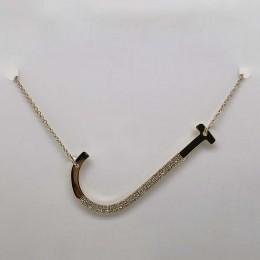 "0.13Ct Diamond Pave ""J"" Initial Necklace"