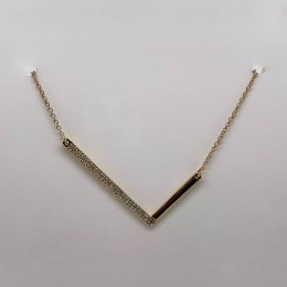 "0.12Ct Diamond Pave ""L"" Initial Necklace"