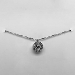 0.22Ct-Ctr(Round) 0.28Ct-Side Diamond Cluster Necklace