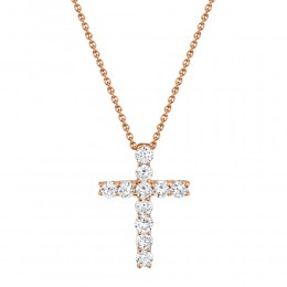 0.32Ct Diamond Cross Necklace