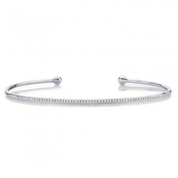 0.17ct 14k White Gold Diamond Bangle