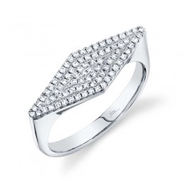 0.25CT 14K White Gold Diamond Pave Lady