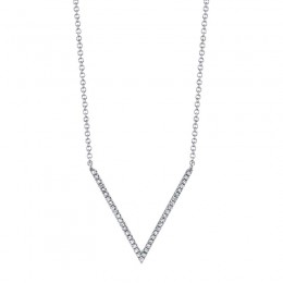 0.12ct 14k White Gold Diamond Necklace