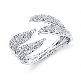 0.50ct 14k White Gold Diamond Pave Lady
