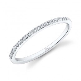 0.08ct 14k White Gold Diamond Lady