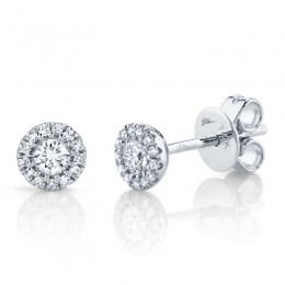 0.24ct 14k White Gold Diamond Stud Earring