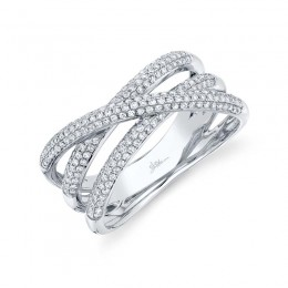 0.50ct 14k White Gold Diamond Bridge Ring