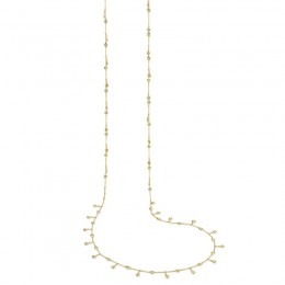 1.85ct 14k Yellow Gold Diamond Shaker Necklace