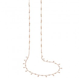 1.85ct 14k Rose Gold Diamond Shaker Necklace