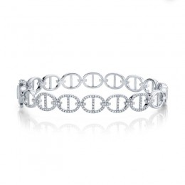 0.45ct 14k White Gold Diamond Bangle