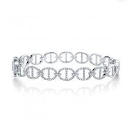 0.45ct 14k White Gold Diamond Bangle