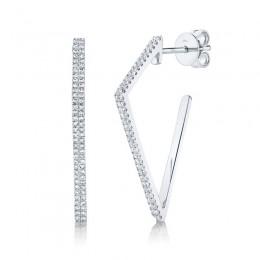 0.32ct 14k White Gold Diamond Earring