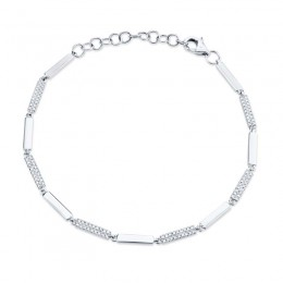 0.29ct 14k White Gold Diamond Bracelet