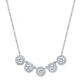 1.20ct 14k White Gold Diamond Necklace