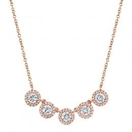 1.20ct 14k Rose Gold Diamond Necklace