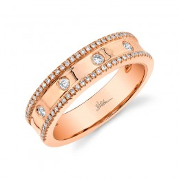 0.23ct 14k Rose Gold Diamond Lady