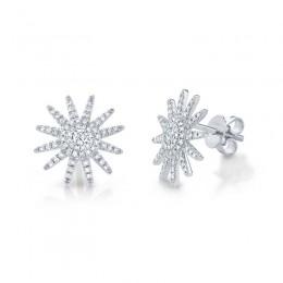 0.41ct 14k White Gold Diamond Earring