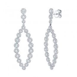 2.95ct 14k White Gold Diamond Earring