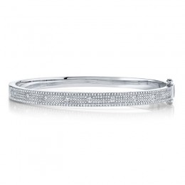 1.01ct 14k White Gold Diamond Bangle