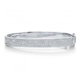 1.47ct 14k White Gold Diamond Bangle