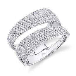 0.81ct 14k White Gold Diamond Pave Lady
