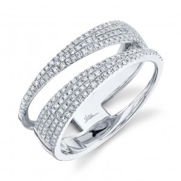 0.45ct 14k White Gold Diamond Pave Lady