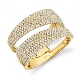 0.81ct 14k Yellow Gold Diamond Pave Lady