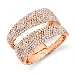 0.81ct 14k Rose Gold Diamond Pave Lady