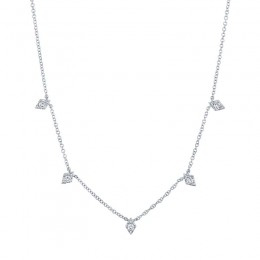 0.19ct 14k White Gold Diamond Necklace