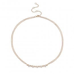 0.56ct 14k Rose Gold Diamond Necklace