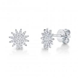 0.24ct 14k White Gold Diamond Stud Earring
