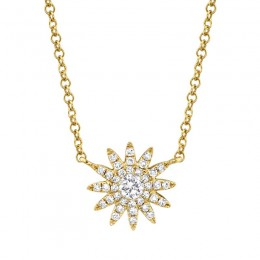 0.15ct 14k Yellow Gold Diamond Necklace