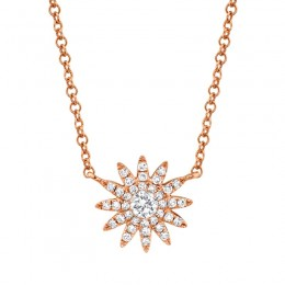 0.15ct 14k Rose Gold Diamond Necklace