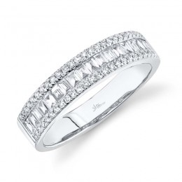 0.55ct 14k White Gold Diamond Baguette Lady