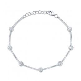 0.88ct 14k White Gold Diamond Bracelet
