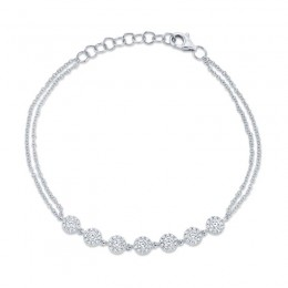 0.66ct 14k White Gold Diamond Bracelet