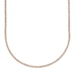 3.96ct 14k Rose Gold Diamond Tennis Necklace